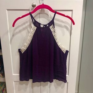 Wet Seal purple halter crop top never worn!